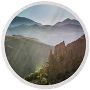 Andalucia Morning Round Beach Towel