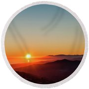 Andalucian Sunset Round Beach Towel