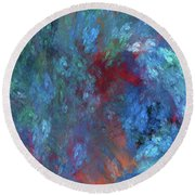 Round Beach Towel featuring the digital art Andee Design Abstract 1 2017 by Andee Design