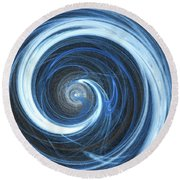 Round Beach Towel featuring the digital art Andee Design Abstract 11 2017 by Andee Design
