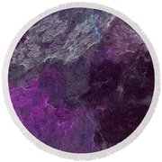 Round Beach Towel featuring the digital art Andee Design Abstract 13 2017 by Andee Design