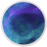 Round Beach Towel featuring the digital art Andee Design Abstract 19 2017 by Andee Design