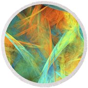 Andee Design Abstract 2 2016  Round Beach Towel