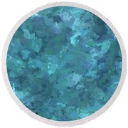 Round Beach Towel featuring the digital art Andee Design Abstract 20 2017 by Andee Design