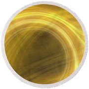 Round Beach Towel featuring the digital art Andee Design Abstract 21 2017 by Andee Design