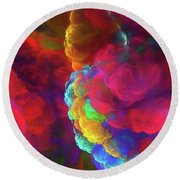 Round Beach Towel featuring the digital art Andee Design Abstract 27 2017 by Andee Design