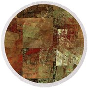 Round Beach Towel featuring the digital art Andee Design Abstract 28 2017 by Andee Design