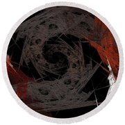 Round Beach Towel featuring the digital art Andee Design Abstract 29 2017 by Andee Design