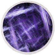 Round Beach Towel featuring the digital art Andee Design Abstract 30 2017 by Andee Design