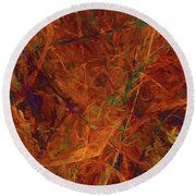 Round Beach Towel featuring the digital art Andee Design Abstract 31 2017 by Andee Design