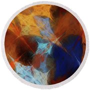 Round Beach Towel featuring the digital art Andee Design Abstract 35 2017 by Andee Design