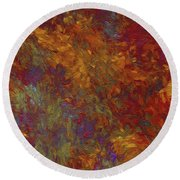 Round Beach Towel featuring the digital art Andee Design Abstract 36 2017 by Andee Design