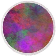 Round Beach Towel featuring the digital art Andee Design Abstract 37 2017 by Andee Design