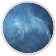 Round Beach Towel featuring the digital art Andee Design Abstract 38 2017 by Andee Design