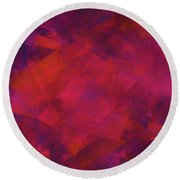 Round Beach Towel featuring the digital art Andee Design Abstract 39 2017 by Andee Design