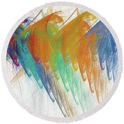 Round Beach Towel featuring the digital art Andee Design Abstract 41 2017 by Andee Design