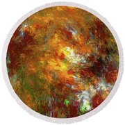Andee Design Abstract 69 2017 Round Beach Towel