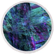Round Beach Towel featuring the digital art Andee Design Abstract 9 2017 by Andee Design