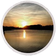 Anderson Stormwater Park In Rockledge Florida Round Beach Towel