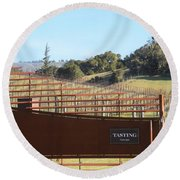 Anderson Valley Vineyard Round Beach Towel
