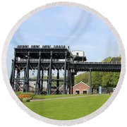Anderton Boat Lift Round Beach Towel