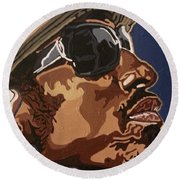 Andre 3000 Round Beach Towel