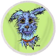 Andre Round Beach Towel by Tanielle Childers