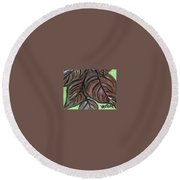 Andrea's Leaves - Fragments Of A  Dream Round Beach Towel
