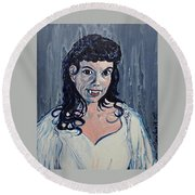 Andree Melly As Gina In The Brides Of Dracula  Round Beach Towel