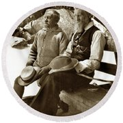 Andrew Carnegie And John Muir March 1910 Round Beach Towel