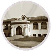 Andrew Carnegie Monterey Public Library At 425 Van Buren St. Circa 1912 Round Beach Towel