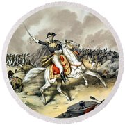 Andrew Jackson At The Battle Of New Orleans Round Beach Towel