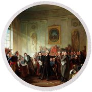 Andrew Jackson Before Judge Hall, New Orleans Round Beach Towel