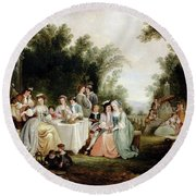 Andrews Henry The Wedding Feast Round Beach Towel