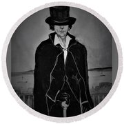 Androgynous Round Beach Towel