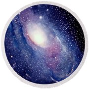 Andromeda Galaxy Round Beach Towel