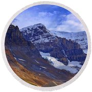 Mount Andromeda Round Beach Towel by Heather Vopni