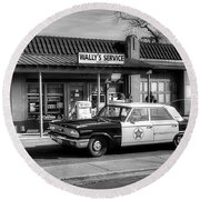 Andy Griffith And Mayberry Round Beach Towel