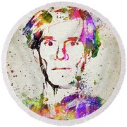 Andy Warhol In Color Round Beach Towel