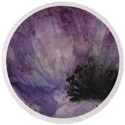 Anemone Round Beach Towel by Marna Edwards Flavell