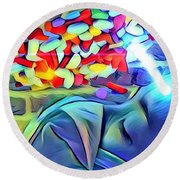 Anesthetized  Round Beach Towel