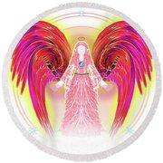 Angel #199 Round Beach Towel by Barbara Tristan