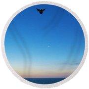 Angel Bird Round Beach Towel