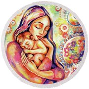 Angel Dream Round Beach Towel
