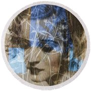 Angel Eyes Round Beach Towel by Paul Lovering