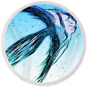 Angel Fish Art Round Beach Towel