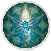 Angel Globe Round Beach Towel