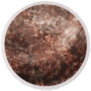 Angel In Disguise Beige Abstract Round Beach Towel