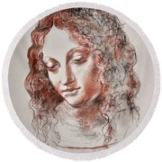 Angel Madonna Round Beach Towel