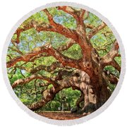 Angel Oak - Charleston Sc  Round Beach Towel